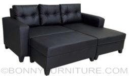 symphony lshape sofa pvc black