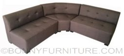 usher corner sofa brown