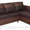 weave lshape sofa brown