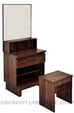 cassandra dresser with stool teak