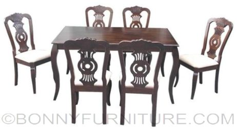 clarisse dining set 6-seater