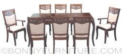 crystal 8-seater dining set
