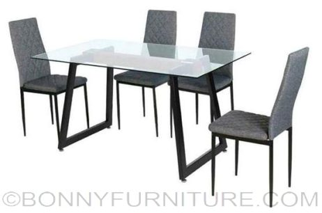 isaac 4s dining set gray