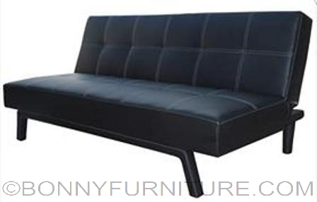 yoko sofabed leather black