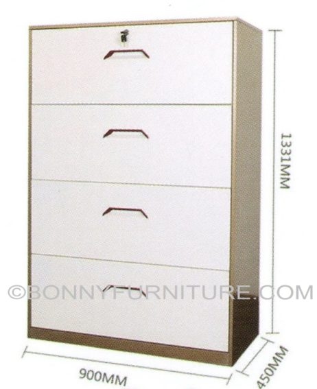 B-6 Lateral Filing Cabinet (4-Layer)