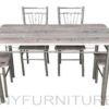 JIT-4627 dining set 4s gray oak