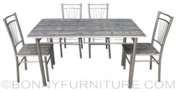 JIT-4627 dining set 4s wood gray