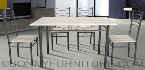 sk-dt5 dining set 4s gray oak