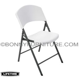 LIFETIME FOLDING CHAIR - WHITE