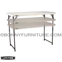 LIFETIME 4-FOOT (48 INCHES) ADJUSTABLE FOLD-IN-HALF TABLE - WHITE 4428 1