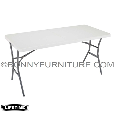 LIFETIME 5-FOOT (60 INCHES) FOLD-IN-HALF TABLE - WHITE