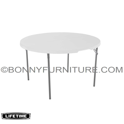 LIFETIME 48 INCH ROUND FOLD IN HALF TABLE U2013 WHITE