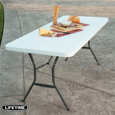 Lifetime 6 Foot 72 Inches Fold In Half Table White