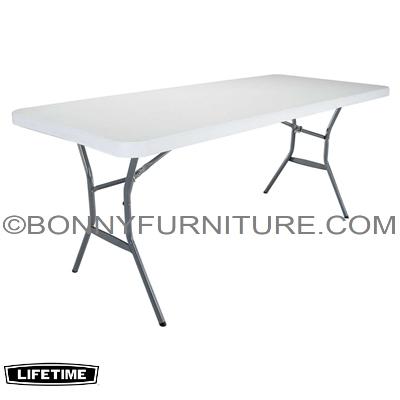 lifetime 6 foot 72 inches folding table white bonny furniture. Black Bedroom Furniture Sets. Home Design Ideas