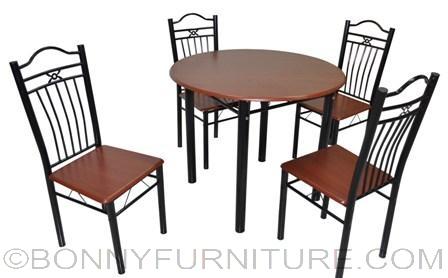 A72/B03 Dining Set 4-seater mahogany