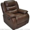 stella recliner medium brown